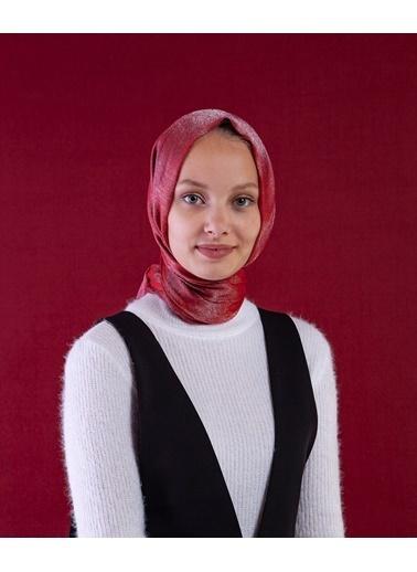 Akel Akel Düz Polyester Tesettür  Kadın Crystal Şal Kırmızı